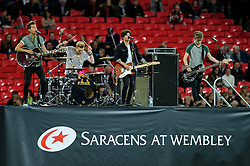 """Boy band """"The Vamps"""" play before the match - Photo mandatory by-line: Rogan Thomson/JMP - Tel: 07966 386802 - 18/10/2013 - SPORT - RUGBY UNION - Wembley Stadium, London - Saracens v Toulouse - Heineken Cup Round 2."""