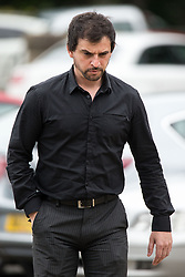 © Licensed to London News Pictures . 22/07/2015 . Chester , UK . Former Greater Manchester Police officer , KEVIN DWYER , arrives at Chester Crown Court . Dwyer (40) is charged with indecent exposure . In February 2015 Dwyer was convicted of two counts of voyeurism and ten counts of outraging public decency that took place whilst serving as a police officer and was handed a five-year sexual offences order . Photo credit : Joel Goodman/LNP