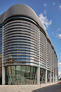 The Walbrook Building seen from Cannon Street. The distinct shading is made of reinforced polymer.<br /> <br /> Architect: Fosters & Partners