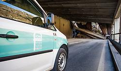 14.05.2013, Tauernhaus, Matrei i.O., AUT, Felbertauernstrasse nach Hangrutsch gesperrt, im Bild In der Nacht von 13. auf 14. Mai kam es auf der Felbertauernstrasse auf Hohe der SChildalmgalerie zu einen Hangrutsch bzw. Felssturz auf einer Laenge von von ca. 100 Metern. Die Strasse ist fuer den gesamten Verkehr bis auf weiteres gesperrt. Es wird vermutet das ein KFZ unter den Schuttmassen verschuettet ist. EXPA Pictures © 2013, PhotoCredit: EXPA/ Juergen Feichter