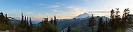 Panorama of Mount Baker from Artist Point in the Mt. Baker-Snoqualmie National Forest - Washington State.
