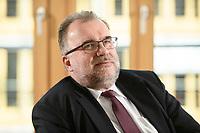 03 MAY 2021, BERLIN/GERMANY:<br /> Siegfried Russwurm, Praesident Bundesverband der Deutschen Industrie, BDI, und Aufsichtsratschef Thyssenkrupp, waehrend einem Interview, BDI, Haus der Wirtschaft<br /> IMAGE: 20210503-02-028