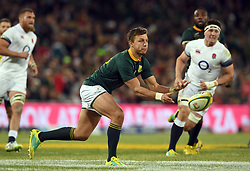 Bloemfontein. Handre Pollard in action during the second rugby test between South Africa and England at Toyota Stadium in Bloemfontein. Photographer: Louis Botha/African News Agency (ANA)