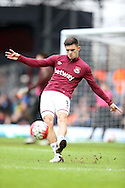 Aaron Cresswell of West Ham United during pre match warm up.The Emirates FA cup, 3rd round match, West Ham Utd v Wolverhampton Wanderers at the Boleyn Ground, Upton Park  in London on Saturday 9th January 2016.<br /> pic by John Patrick Fletcher, Andrew Orchard sports photography.