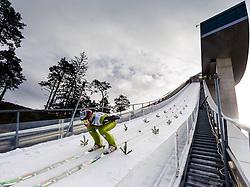 03.01.2013, Bergisel Schanze, Innsbruck, AUT, FIS Ski Sprung Weltcup, 61. Vierschanzentournee, Training, im Bild Matjaz Pungertar (SLO) // Matjaz Pungertar of Slovenia during practice Jump of 61th Four Hills Tournament of FIS Ski Jumping World Cup at the Bergisel Schanze, Innsbruck, Austria on 2013/01/03. EXPA Pictures © 2012, PhotoCredit: EXPA/ Juergen Feichter