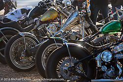 Great bikes on display at Harley Davidson's Editor's Choice Bike Show at the Broken Spoke Saloon during Daytona Bike Week 75th Anniversary event. FL, USA. Wednesday March 9, 2016.  Photography ©2016 Michael Lichter.