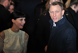© Licensed to London News Pictures. 12/12/2011. London, England. attends the world premiere of The Girl With The Dragon Tattoothe first film in the three-picture adaptation of Stieg Larsson's literary blockbuster The Millennium Trilogy.  Directed by David Fincher and starring Daniel Craig and Rooney Mara  in Liecester Square London .  Photo credit : ALAN ROXBOROUGH/LNP