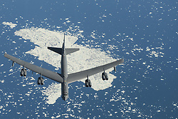 July 31, 2016 - At sea - A U.S. Air Force B-52 Stratofortress bomber aircraft flies during Polar Roar exercises July 31, 2016 near the North Pole. (Credit Image: © Joshua King/Planet Pix via ZUMA Wire)