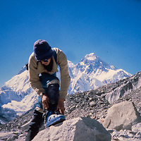 Gordon Wiltsie on the Baruntse Climbing Expedition, 1980 Nepal.