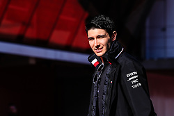 February 18, 2019 - Montmelo, BARCELONA, Spain - Esteban Ocon of France with Mercedes AMG Petronas Motorsport W10 portrait during the Formula 1 2019 Pre-Season Tests at Circuit de Barcelona - Catalunya in Montmelo, Spain on February 18. (Credit Image: © AFP7 via ZUMA Wire)