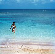Girl on Fleming Beach - Goldeneye Jamaica