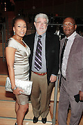 October 16, 2012-New York, NY : (L-R) Director George Lucas, Actress Tamara Tunie and Actor Samuel L. Jackson at the 3rd Annual National Action Network Triumph Awards held at Jazz at Lincoln Center on October 16, 2012 in New York City. The Triumph Awards were established by the National Action Network to recognize the contributions of humanitarians from all walks of life and to encourage future generations to drum majors for justice. (Terrence Jennings)