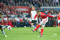 Football - 2017 / 2018 _Wales v Austria_FIFA World Cup Qualifier 2018<br /> <br /> Aaron Ramsey of Wales shoots at goal--- at Cardiff City Stadium.<br /> <br /> COLORSPORT/WINSTON BYNORTH