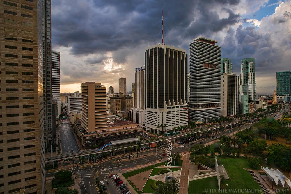 Downtown Miami & Bayfront Park (Stormy)