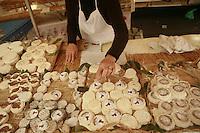 "The Thursday market in Villeneuve les Avignon, Languedoc, France.. ""pelardon"" goat cheese..October 4, 2007..Photo by Owen Franken for the NY Times...Assignment ID: 30049869A"