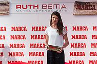 Spanish high jumper Ruth Beitia during the award ceremony of Marca legend in the spanish olympic commitee headquarters in Madrid September 13, 2016. (ALTERPHOTOS/Rodrigo Jimenez)