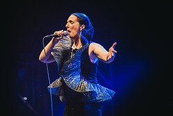 July 1, 2018 - Torino, Torino, Italy - The Portuguese singer and song writer Dulce Pontes performing live on stage in Torino for the ''Torino Estate Reale'' festival. (Credit Image: © Alessandro Bosio/Pacific Press via ZUMA Wire)
