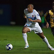 Denilson in action during the group H group stage match between the Central Coast Mariners of Australia and Pohang Steelers of Korea in Gosford, Australia on March 11 2009, The match ended in a 0-0 draw. Photo Tim Clayton