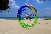 Transparent window sticker Rainbow Lodge Nilavelli beach , near Trincomalee, Eastern province, Sri Lanka, Asia
