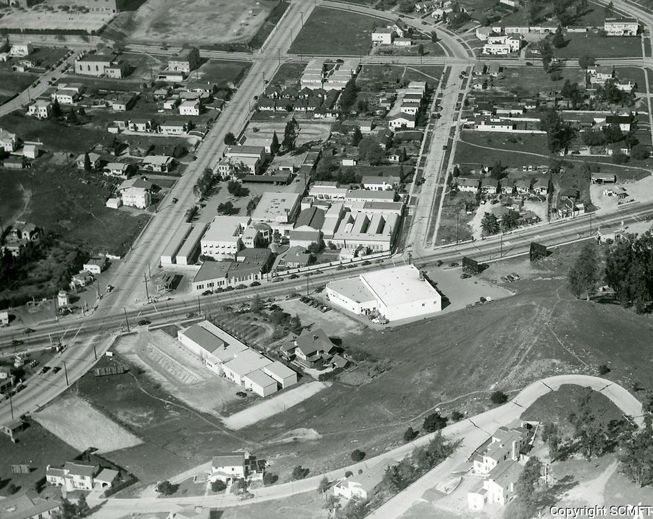 1936 Aerial of Disney Studios on Hyperion Ave.