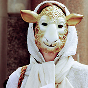 Sheep person protestor, London, England (June 2006)