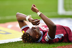 March 16, 2019 - Birmingham, England, United Kingdom - Tammy Abraham (18) of Aston Villa in pain after suffering from an injury during the Sky Bet Championship match between Aston Villa and Middlesbrough at Villa Park, Birmingham on Saturday 16th March 2019. (Credit Image: © Mi News/NurPhoto via ZUMA Press)