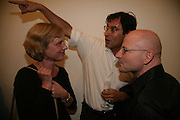 Irene Hofmann, Max Henry and Thoralf Knobloch,  Opening of new  Wilkinson gallery. Vyner St. London. E2. Party afterwards at Bistrotheque. 6 September 2007. -DO NOT ARCHIVE-© Copyright Photograph by Dafydd Jones. 248 Clapham Rd. London SW9 0PZ. Tel 0207 820 0771. www.dafjones.com.