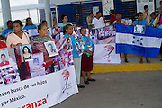 Mothers of central american migrants from Honduras, El Salvador, Guatemala and Nicaragua (claimed to be disappeared in Mexico) crossed the Guatemala - Mexico border on October 15th, 2012. The mother´s caravan  will travel through 23 locations in 14 mexican states during 20 days looking for the whereabouts of their sons. (Photo: Prometeo Lucero)