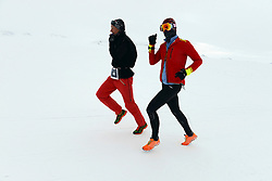 © Licensed to London News Pictures. Union Glacier, Antarctica. The 9th edition of the Antarctic Ice Marathon . The Ice Marathon took place at Union Glacier, Antarctica, and is  recognised as the world's southernmost marathon and the only official running event within the Antarctic Circle, taking place just a few hundred miles from the South Pole at the foot of the Ellsworth Mountains. Temperatures were an ice cool -21C when the event got underway at 13:10 GMT on Wednesday 20  November. A total of 56 athletes from 21 countries took part in the ninth edition of the event, which is  an essential race for marathon runners seeking to join the Seven Continents Marathon Club. Photo credit: Mike King/LNP