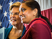 03 MAY 2019 - AMES, IOWA: Sen. ELIZABETH WARREN (D-MA) talks to supporters who waited to have their pictures taken with the Senator after her campaign appearance at Iowa State University in Ames. Sen. Warren is campaigning in Iowa Friday and Saturday to promote her bid to be the Democratic candidate for the US Presidency. Iowa traditionally hosts the the first selection event of the presidential election cycle. The Iowa Caucuses will be on Feb. 3, 2020.              PHOTO BY JACK KURTZ