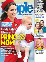 People Magazine Cover: The Duke and Duchess of Cambridge and Prince George land in Wellington, at the start of their tour of New Zealand and Canada on the 7th April 2014.<br /> <br /> Picture by James Whatling