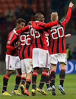 """Esultanza dopo il gol di Mario Balotelli Milan, Goal Celebration, Milano 3/2/2013 .Stadio """"S.Siro"""".Football Calcio 2012/2013 Serie A.Milan Vs Udinese.Foto Marco Bertorello Insidefoto"""