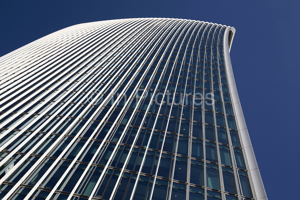 20 Fenchurch Street is a commercial skyscraper in London that takes its name from its address on Fenchurch Street, in the historic City of London financial district. It has been nicknamed The Walkie Talkie because of its distinctive shape. Construction was completed in spring 2014, and the top-floor sky garden was opened in January 2015. The 34-storey building is 160 m 525 ft tall, making it the sixth-tallest building in the City of London and the 12th tallest in London, England, United Kingdom.