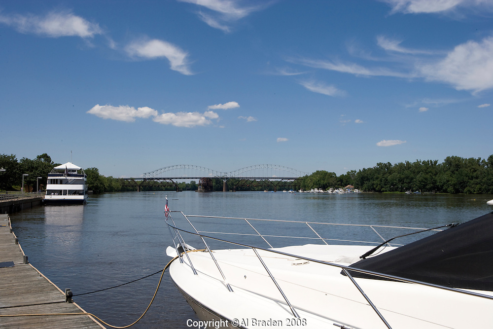 Yacht at Connecticut River, Waterfront, Middletown,  CT