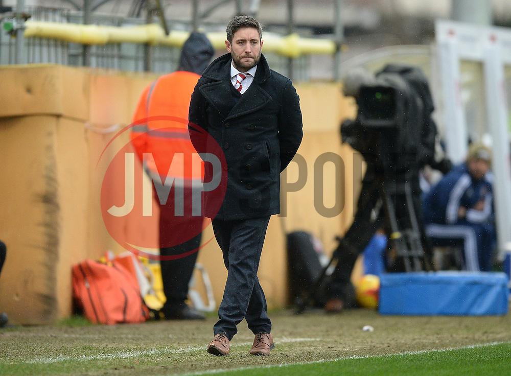 Bristol City head coach, Lee Johnson - Mandatory byline: Alex James/JMP - 13/02/2016 - FOOTBALL - Ashton Gate - Bristol, England - Bristol City v Ipswich Town - Sky Bet Championship