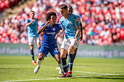 August 5, 2018 - Willian of Chelsea and Aymeric Laporte of Manchester City during the 2018 FA Community Shield match between Chelsea and Manchester City at Wembley Stadium, London, England on 5 August 2018. (Credit Image: © AFP7 via ZUMA Wire)