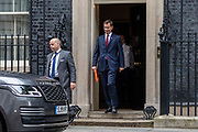 Foreign Secretary and candidate for the Conservative Leadership Jeremy Hunt leaves 10 Downing Street following a weekly cabinet meeting on 25th June 2019 in London, United Kingdom.