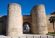 Puerta de Almocabar fortifications historic city walls Ronda, Malaga province, Spain