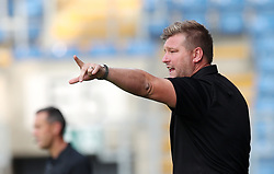 Oxford United manager Karl Robinson gestures on the touchline during a pre season friendly match at The Kassam Stadium, Oxford