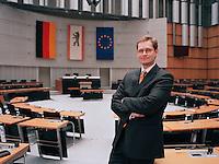 09 JAN 2004, BERLIN/GERMANY:<br /> Michael Mueller, SPD Fraktionsvorsitzender im Berliner Abgeordnetenhaus, Plenarsaal, Preussischer Landtag<br /> IMAGE: 20040109-01-01-10<br /> KEYWORDS: Michael Müller