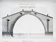 Construction of an Arch of a Chinese Bridge From the book Travels in China : containing descriptions, observations, and comparisons, made and collected in the course of a short residence at the imperial palace of Yuen-Min-Yuen, and on a subsequent journey through the country from Pekin to Canton By Sir John Barrow, Published in London : T. Cadell and W. Davies 1806