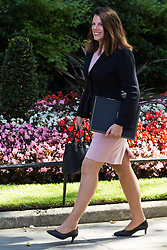 London, UK. 23 July, 2019. Caroline Nokes MP, Secretary of State for Immigration, arrives at 10 Downing Street for the final Cabinet meeting of Theresa May's Premiership. The name of the new Conservative Party Leader, and so the new Prime Minister, will be announced at a special event following the meeting.