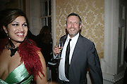 BISHI AND JAKE MILLER, Opening of a new exhibition of collages by John Stezaker at The Approach W1. 74 Mortimer st. and afterwards at the House of St-Barnabas-in-Soho. Greek st. London. 21 November 2007. -DO NOT ARCHIVE-© Copyright Photograph by Dafydd Jones. 248 Clapham Rd. London SW9 0PZ. Tel 0207 820 0771. www.dafjones.com.