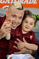 Radja Nainggolan Roma con la figlia.<br /> Roma 31-05-2015 Stadio Olimpico. Football Calcio 2014/2015 Serie A. AS Roma - Palermo. Foto Antonietta Baldassarre / Insidefoto