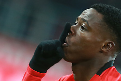 April 3, 2017 - Moscow, Russia - April 3, 2017. Russia, Moscow, Otkritie Arena Stadium. Russian football Premier League 2016/17. Spartak's player Quincy Promes celebrate scoring a goal during match between FC Spartak (Moscow) - FC Orenburg  (Credit Image: © Russian Look via ZUMA Wire)