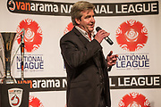 Martin Toal during the National League Gala Awards Evening at Celtic Manor Resort, Newport, South Wales on 9 June 2018. Picture by Shane Healey.