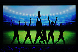 03.10.2015, Frankfurt am Main, GER, Tag der Deutschen Einheit, im Bild Schattenspielinszenierung beim Festakt in der Alten Oper Frankfurt zu Geschehnissen nach der Einheit 1990: Wir sind Weltmeister // during the celebrations of the 25 th anniversary of German Unity Day in Frankfurt am Main, Germany on 2015/10/03. EXPA Pictures © 2015, PhotoCredit: EXPA/ Eibner-Pressefoto/ Roskaritz<br /> <br /> *****ATTENTION - OUT of GER*****