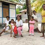 Papuan fisherman family.