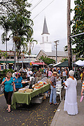 """Monthly street market, the """"Village Stroll"""", Kailua-Kona, Big Island, Hawaii RIGHTS MANAGED LICENSE AVAILABLE FROM www.PhotoLibrary.com"""