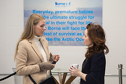 Borne Arctic Trek  2018 launches in London with former England rugby international Will Greenwood MBE, former special forces sergeant and TV presenter Jason Fox and polar explorer Alan Chambers MBE. PICTURED: Caro Greenwood, left.<br /> Unit London, London, February 28 2018.